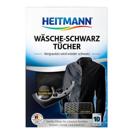 HEITMANN dažomosios skalbinių servetėlės (juodos) 10 vnt.